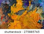 macro artist's palette  texture ... | Shutterstock . vector #275885765