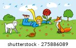 little prince and tale...   Shutterstock .eps vector #275886089