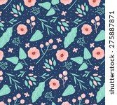 pattern with pastel flowers ... | Shutterstock .eps vector #275887871