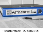 Small photo of Blue folder with the label Administrative Law