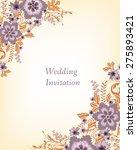 wedding invitation card.... | Shutterstock .eps vector #275893421