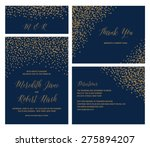 confetti wedding invitation set ... | Shutterstock .eps vector #275894207