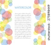 hand painted water color... | Shutterstock .eps vector #275898449