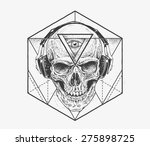 skull with third eye in... | Shutterstock .eps vector #275898725