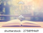 epigraph over the opened book... | Shutterstock . vector #275899469