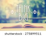 epigraph over the opened book... | Shutterstock . vector #275899511