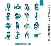 happy mothers day simple flat...   Shutterstock .eps vector #275901137