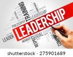 leadership word cloud  business ... | Shutterstock . vector #275901689