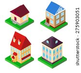 illustration of a set of houses ... | Shutterstock . vector #275903051
