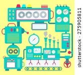 cute machine. colorful and cute ... | Shutterstock .eps vector #275905811
