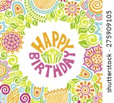 happy birthday greeting card... | Shutterstock .eps vector #275909105