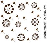jasmine flower pattern | Shutterstock .eps vector #275909591