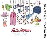 fashion illustration.vector... | Shutterstock .eps vector #275912555