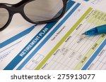 retirement planning with... | Shutterstock . vector #275913077