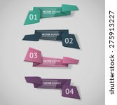 vector infographic origami... | Shutterstock .eps vector #275913227