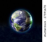 real looking 3d globe world... | Shutterstock . vector #27591670