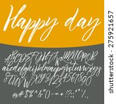 alphabet letters  lowercase ... | Shutterstock .eps vector #275921657