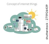 internet things concept flat... | Shutterstock .eps vector #275926439