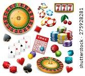 casino popular gambling online... | Shutterstock .eps vector #275928281