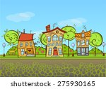 countrysite houses | Shutterstock .eps vector #275930165