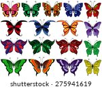 set of seventeen colorful... | Shutterstock .eps vector #275941619