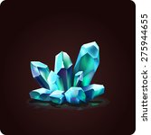 game icon of magic crystal....