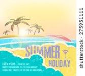 summer holiday    summer... | Shutterstock .eps vector #275951111