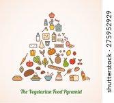 the vegetarian food pyramid... | Shutterstock .eps vector #275952929
