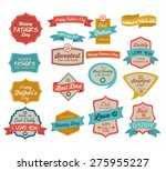 fathers day design background... | Shutterstock .eps vector #275955227
