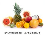 fresh fruits isolated on a... | Shutterstock . vector #275955575