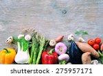 fresh vegetables . background.... | Shutterstock . vector #275957171