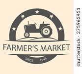 retro farmer's market and... | Shutterstock .eps vector #275962451