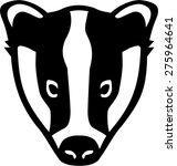 badger head | Shutterstock .eps vector #275964641