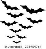 group of bats | Shutterstock .eps vector #275964764