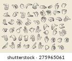 vector cartoon hand gestures...   Shutterstock .eps vector #275965061