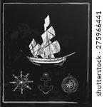 set of hand drawn nautical... | Shutterstock .eps vector #275966441