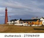 lighthouse in andenes  norway | Shutterstock . vector #275969459