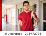 portrait of a hispanic college... | Shutterstock . vector #275972735