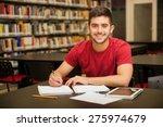 attractive male university... | Shutterstock . vector #275974679