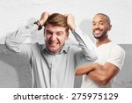 blond angry man | Shutterstock . vector #275975129