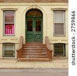 green front door  stoop  and... | Shutterstock . vector #2759866