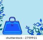pretty purse border design page illustration background - stock photo