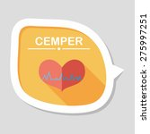 ecg heart flat icon with long... | Shutterstock .eps vector #275997251