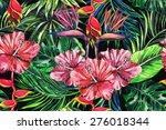 beautiful trendy seamless... | Shutterstock . vector #276018344