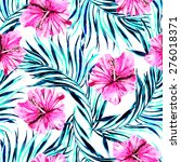beautiful seamless floral... | Shutterstock . vector #276018371