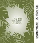 decorative frame with tropical... | Shutterstock .eps vector #276021431