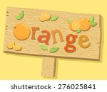 illustration of a wood sign... | Shutterstock .eps vector #276025841