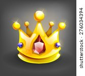 cartoon gold crown. vector...