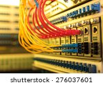 fiber optic cables connected to ...   Shutterstock . vector #276037601