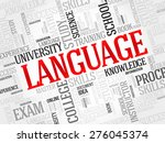 language word cloud  education... | Shutterstock .eps vector #276045374